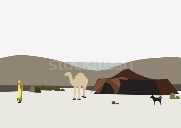 çöl kadın deve örnek Stok fotoğraf © MichalEyal
