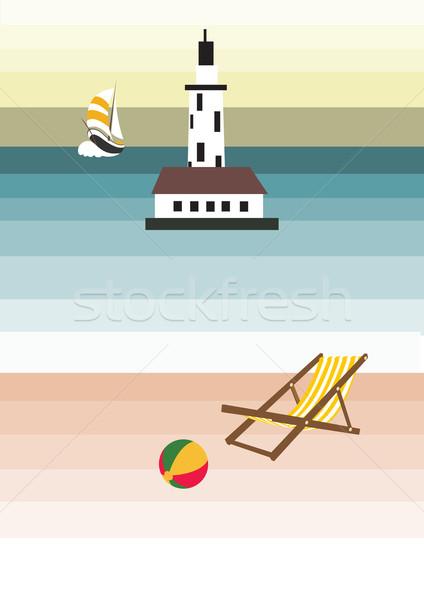 Burada çocuklar çocuklar tekne sandalye top Stok fotoğraf © MichalEyal