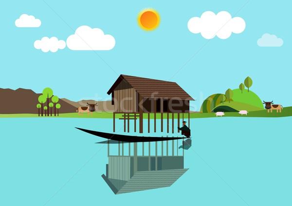 Сток-фото: дома · воды