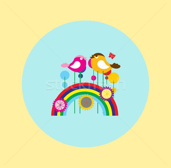радуга цвета иллюстрация геометрический песня Сток-фото © MichalEyal