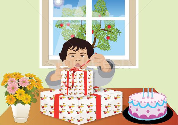 Verjaardag jongen partij kinderen gelukkig Stockfoto © MichalEyal