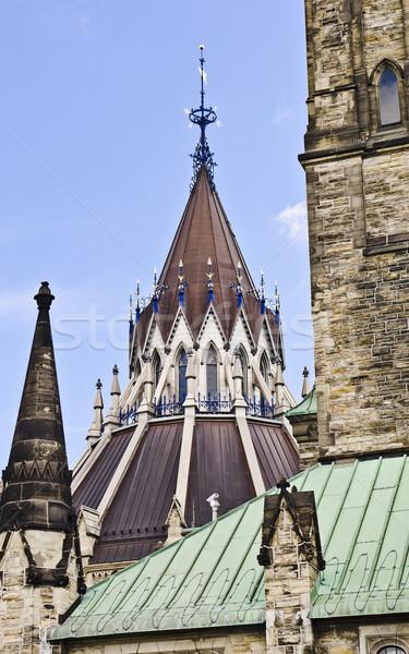 библиотека парламент архитектура флюгер Сток-фото © michelloiselle
