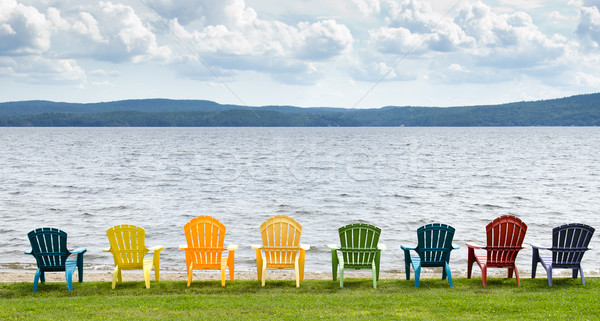 Lakeside Chairs Stock photo © michelloiselle