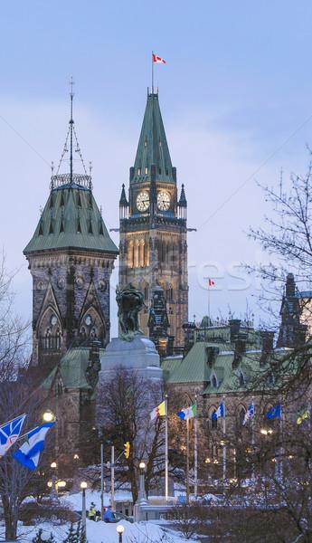 Dikey siyaset parlamento merkez bloklar Ottawa Stok fotoğraf © michelloiselle
