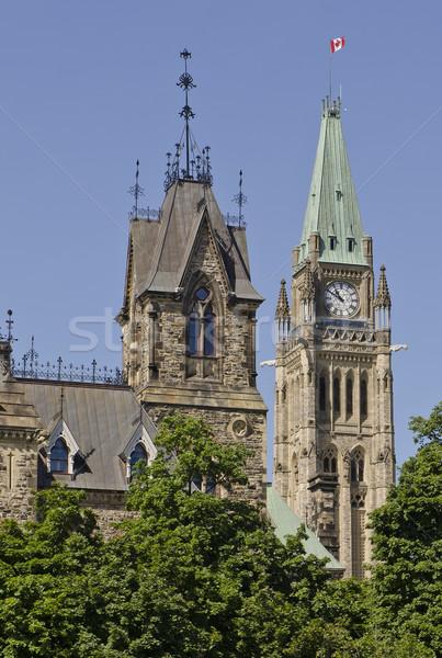 восточных мнение парламент центр небе дома Сток-фото © michelloiselle