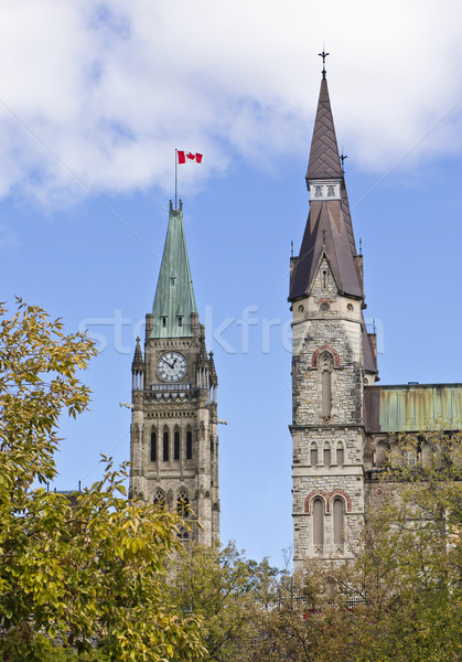 Centre and West Block Towers Stock photo © michelloiselle