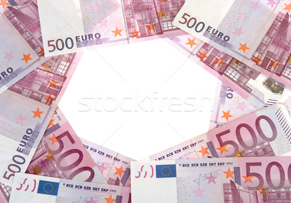 Circle of 500 Euro banknotes Stock photo © michey