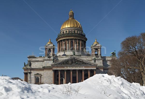 Katedry Rosja zimą niebo budynku miasta Zdjęcia stock © michey