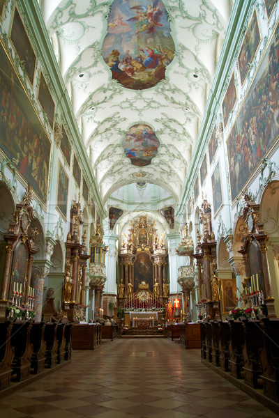 St. Peter Abbey Church inside. Salzburg, Austria Stock photo © michey