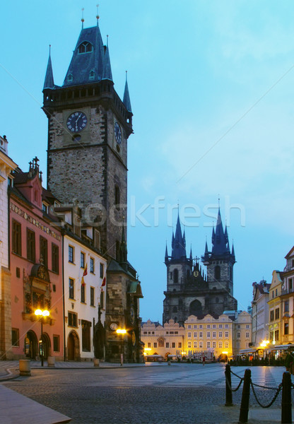 Twilight in Prag Stock photo © michey