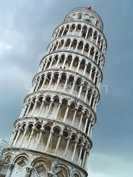 Wieża niebo Toskania Włochy budynku Zdjęcia stock © michey