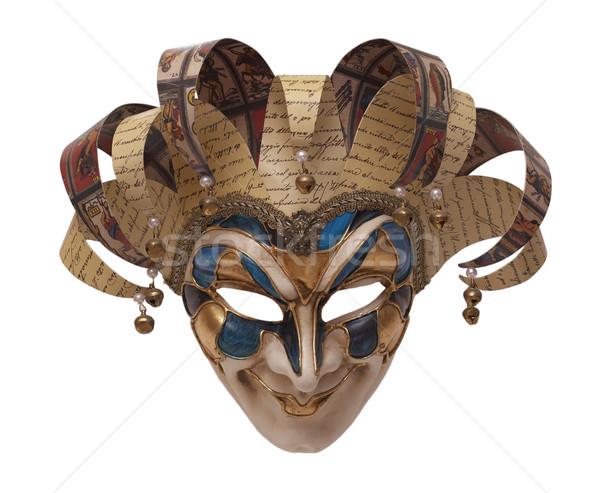 Maska włoski tradycyjny Wenecja karnawałowe twarz Zdjęcia stock © michey