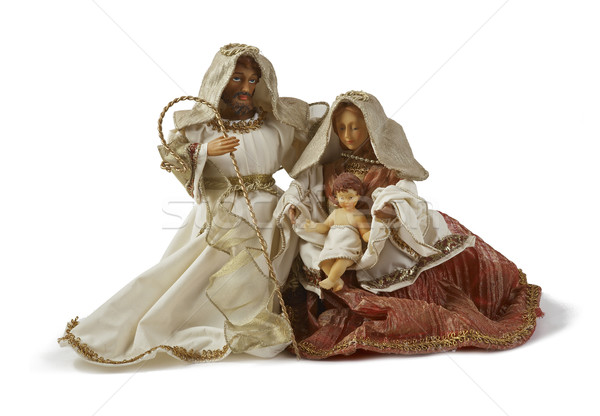 Christmas Nativity scene. Holy family Stock photo © michey