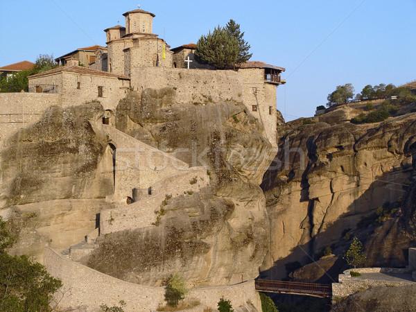 Krajobraz klasztor panorama rock Grecja lasu Zdjęcia stock © michey
