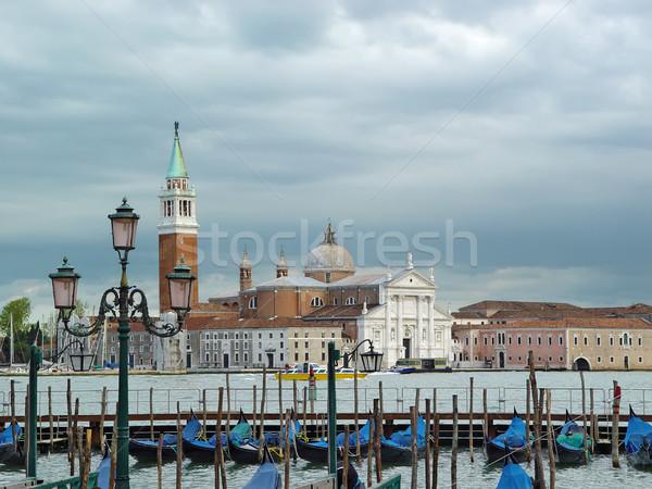Mętny Wenecja mglisty dzień obok pałac Zdjęcia stock © michey