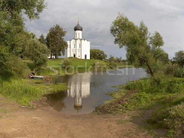Piękna kościoła Rosja rzeki region złoty Zdjęcia stock © michey