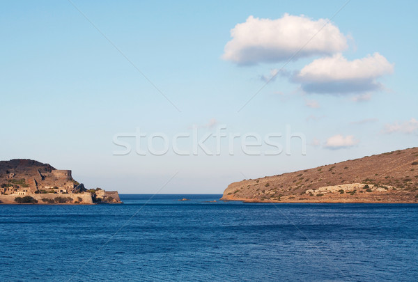 View of Spinalonga island, a Venetian fortress in Crete. Stock photo © michey