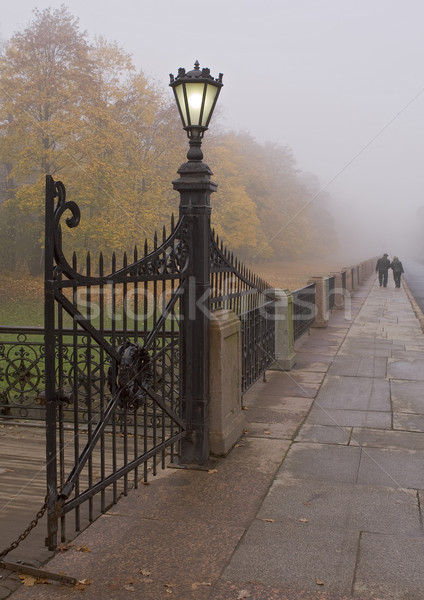 gate streetlight in fog Stock photo © michey