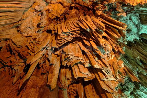 Ogromny jaskini kolorowy charakter świetle ziemi Zdjęcia stock © michey