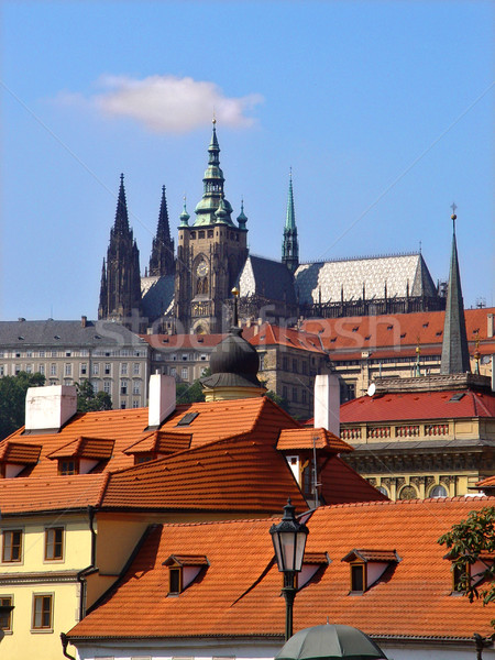 Prague roofs Stock photo © michey