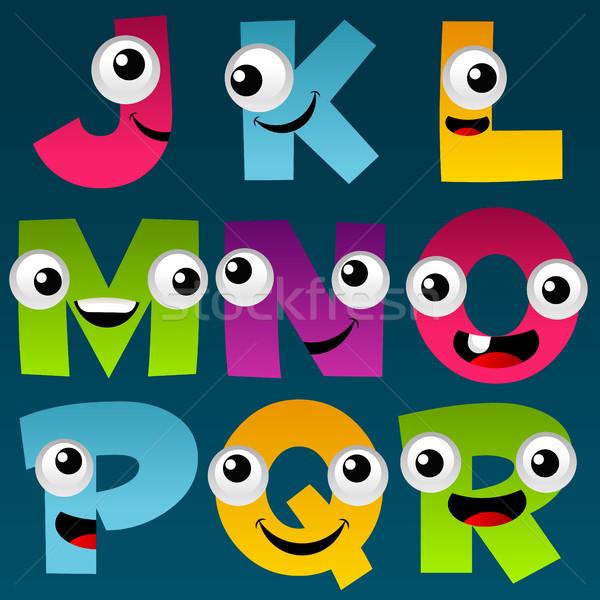 Cartoon Alphabet Set 2 Stock photo © Mictoon