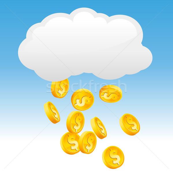 Raining Gold Coins Stock photo © Mictoon