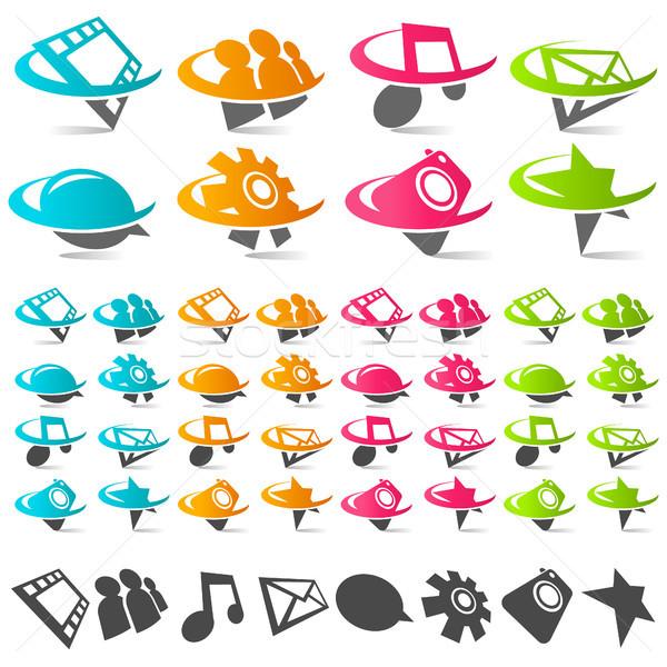 иконки музыку дизайна зеленый Сток-фото © Mictoon