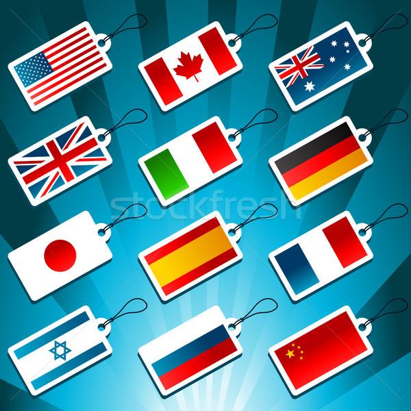 Dünya bayraklar ayarlamak dizayn ülke Stok fotoğraf © Mictoon