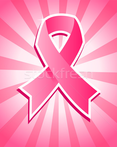 розовый Рак молочной железы лента иллюстрация осведомленность Сток-фото © Mictoon