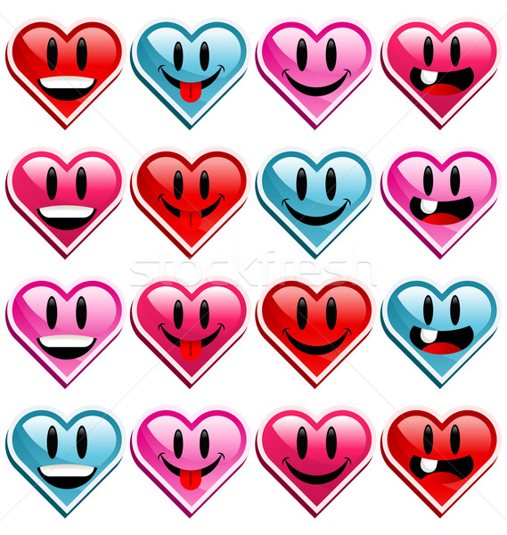 Smiling Heart Icons Stock photo © Mictoon