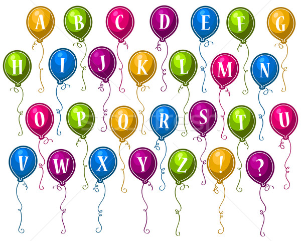 Party Alphabet Balloons Stock photo © Mictoon