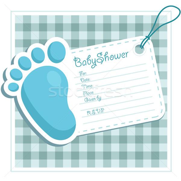 Mavi bebek duş ayak ikon Stok fotoğraf © Mictoon