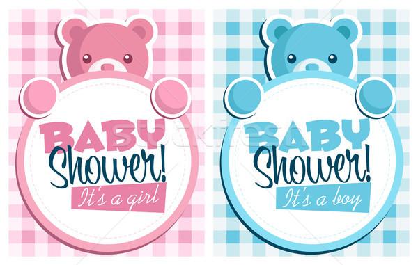 Baby Shower Invitation Card Stock photo © Mictoon