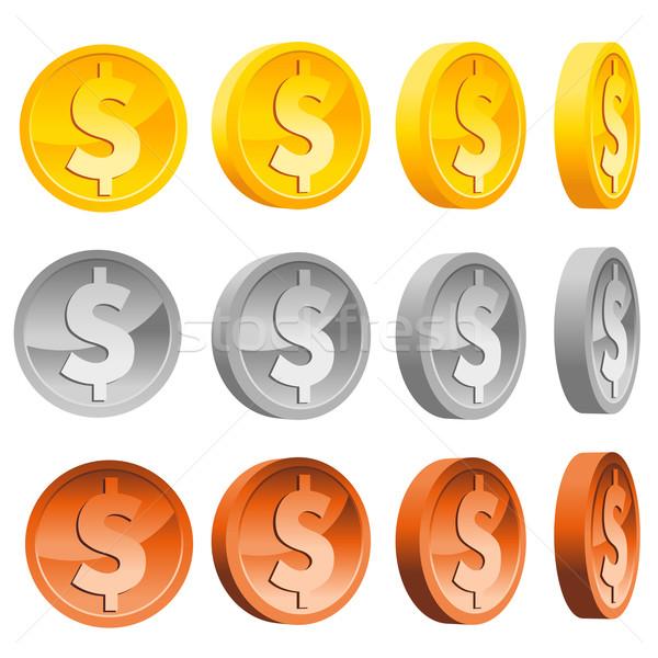 Dollar Coins Stock photo © Mictoon