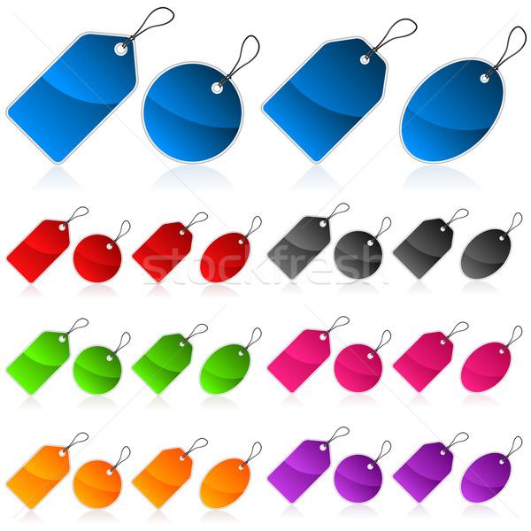 красочный цен набор торговых Сток-фото © Mictoon