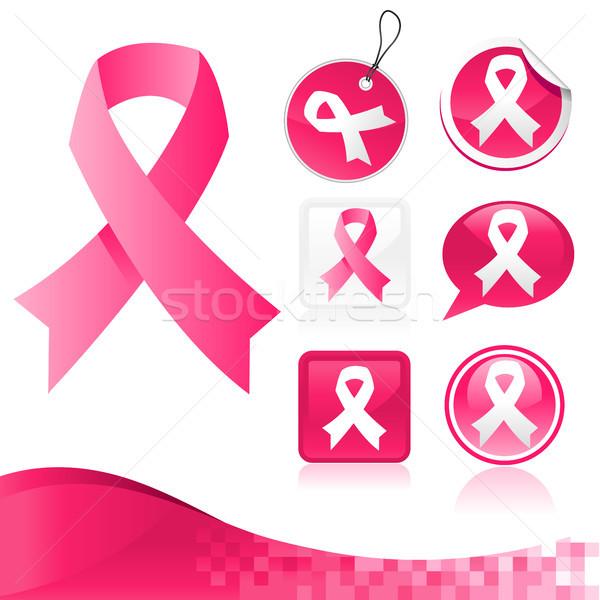 Pembe ayarlamak meme kanseri farkında olma Stok fotoğraf © Mictoon
