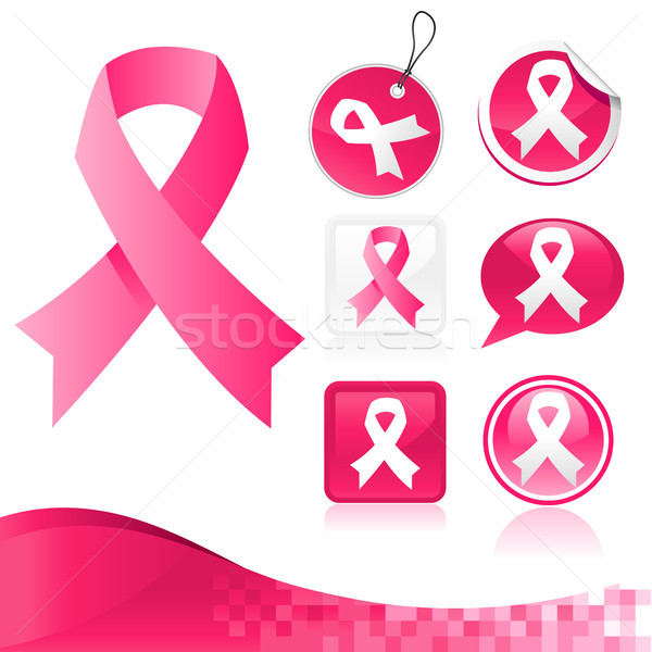 Pink Ribbons Kit Stock photo © Mictoon