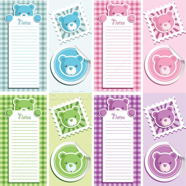 Baby Shower Bear Scrapbooking Stock photo © Mictoon