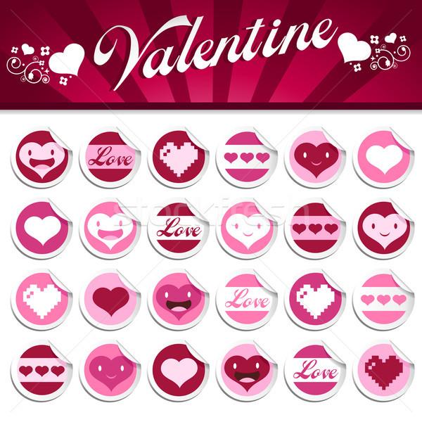 Valentines Stickers. Stock photo © Mictoon