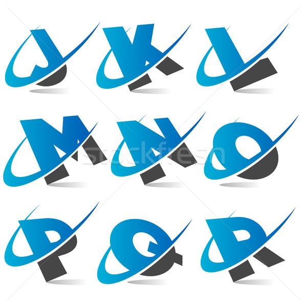 алфавит набор графических Элементы веб Сток-фото © Mictoon