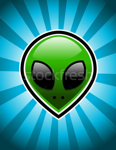 зеленый чужеродные синий лице науки игры Сток-фото © Mictoon