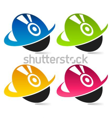 Bilgisayar disk ikon grafik dizayn Stok fotoğraf © Mictoon