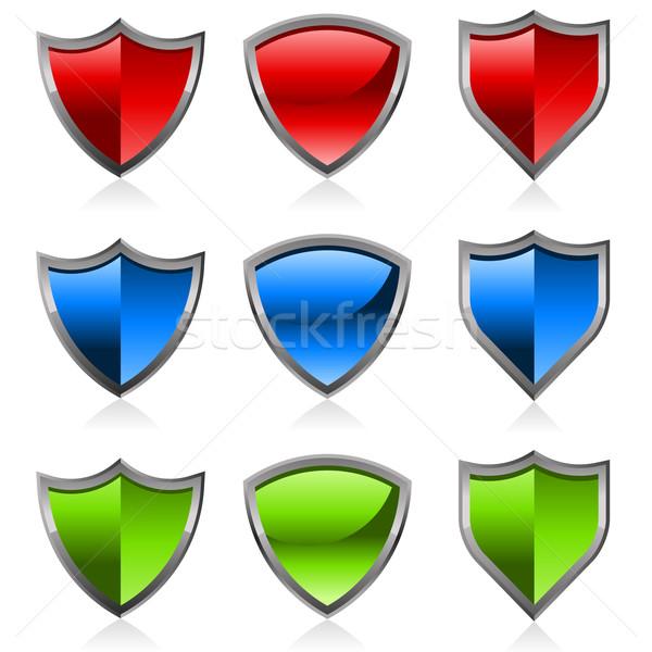 Colorful Shiny Shields Stock photo © Mictoon