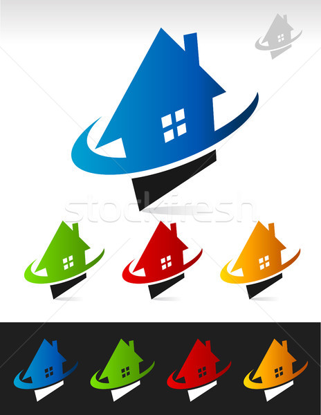 House Real Estate Swoosh Icons Stock photo © Mictoon