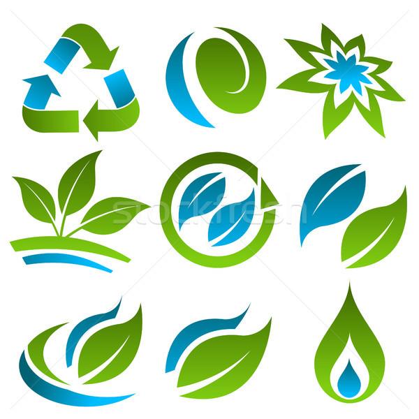 зеленый синий энергии рециркуляции Сток-фото © Mictoon