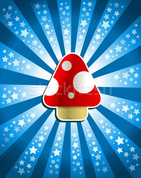 Red Magic Mushroom Stock photo © Mictoon