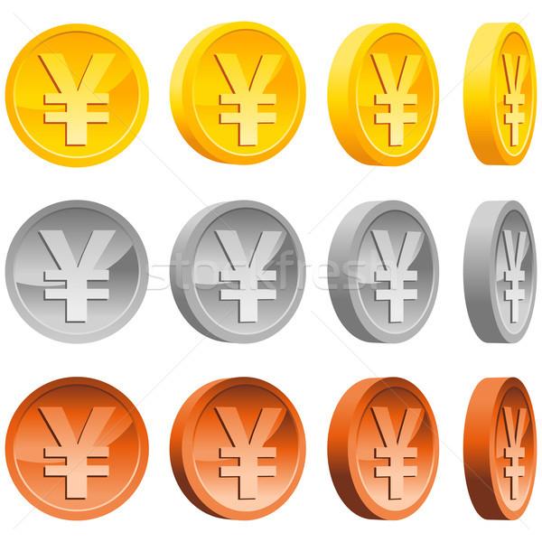 Yen Coins Stock photo © Mictoon