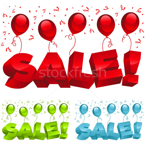 Sale Balloons and Confetti  Stock photo © Mictoon