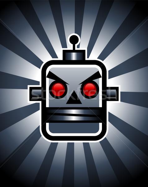 Kötü Retro robot örnek dizayn Stok fotoğraf © Mictoon