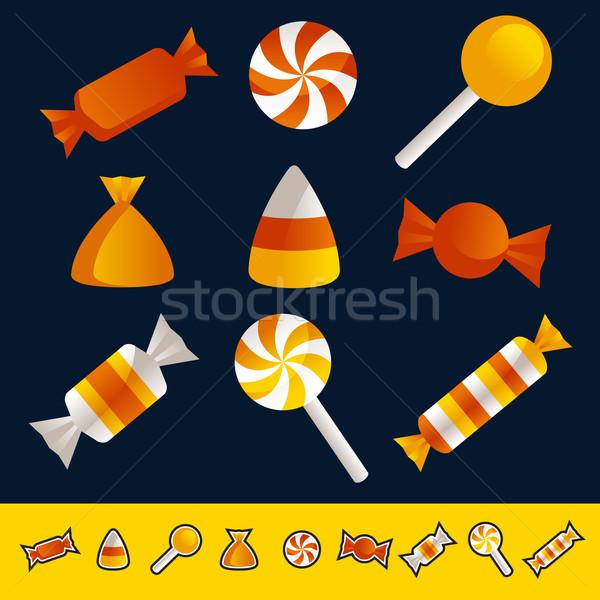 Хэллоуин конфеты набор красочный Сток-фото © Mictoon